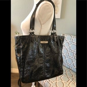 Large Coach patent  leather bag